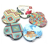 Heart Shape Full Color  Pocket Mirror
