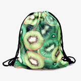 Heat Transfer Printed Drawstring Backpack