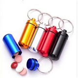 Key chain pill boxes