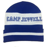 Knitted Beanie W/ Jacquard logo message