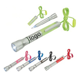 Lanyard LED Flashlight Light-Up Ballpoint Pen