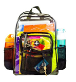 Large Clear Heavy Duty School Backpack