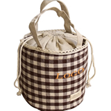 Lined Cotton Bag With Drawstring