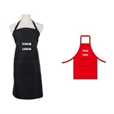 Long Polyester Bib Apron-2 Pockets