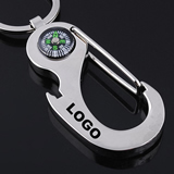 Metal Carabiner Key Chain with Compass