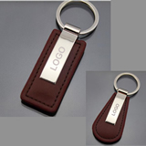Metal Leather Car Keychain Keyring Key Tag