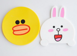 New PVC Cartoon creative gift Square coasters