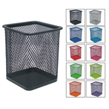 Office Mesh Metal Square Pen Holder