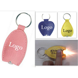 PU Leather LED Keychain