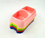 Plastic pet food bowl for cats and small dogs