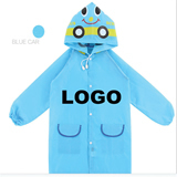 Polyester Child Cartoon Raincover w/ Inflated Cap Brim Care
