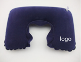 Promotional PVC travel flocking inflatable pillow