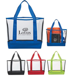 Promotional Transparent Large Pvc Tote Large Beach Bag