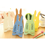 Rabbit-Shaped Wooden Phone Stand