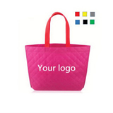 Recyclable Printing Grid Pattern Non-Woven Shopping Bag