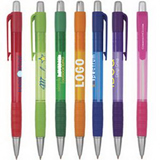 Retractable Ballpoint Pen W/Soft Rubber Grip