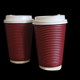 Ripple Paper Cups With Lid