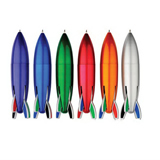 Rocket Shape Multicolor Ballpoint Pen