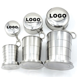 Stainless Steel Foldable Travel Cup (Four-Section)