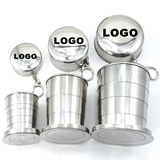 Stainless Steel Foldable Travel Cup (Three-Section)