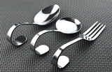 Stainless Steel Curved Spoon, Fork