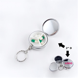 Stainless Steel Pill Box Keychains