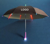 Straight Rainbow Color Led Umbrella
