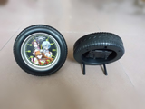 Tire desk clock