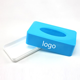 Tissue box with customized logo printed