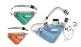 Triangle Waist Bag Fanny Pack with Water Bottle Holder