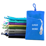 Velvet Cellphone Drawstring Pouch
