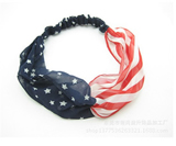 Vintage Tone Patriotic American Flag Print Stretch headband