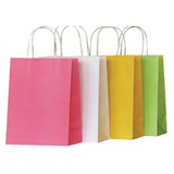 White Kraft Paper Handle Shopping Bags