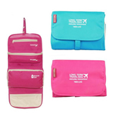Wholesale foldable hanging cosmetic toiletry bag