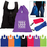 Women Folding Grocery Tote Bag